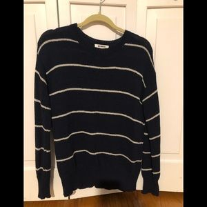 BB Dakota Navy and white striped sweater